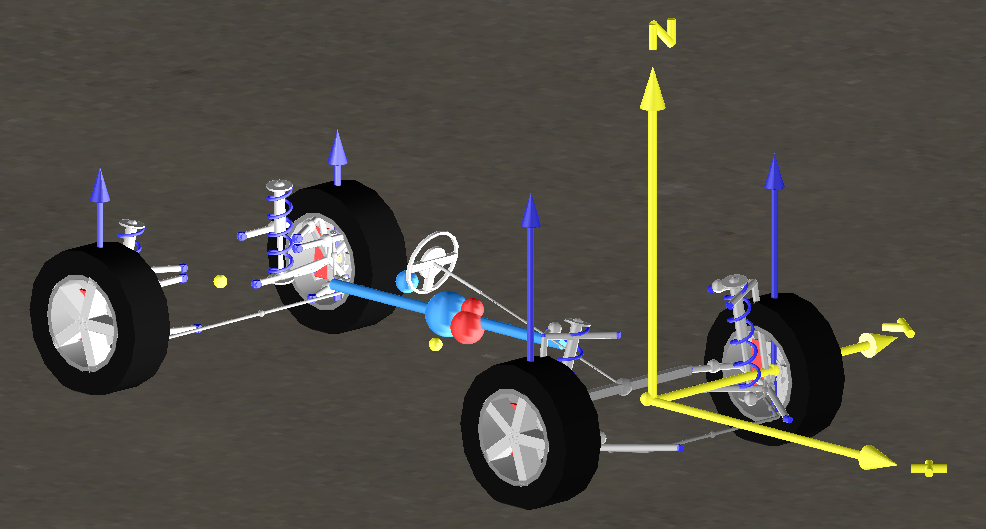 Figure 1: VeSyMA vehicle origin and coordinate system highlighted in yellow